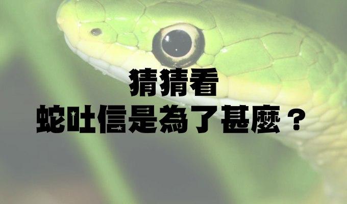 科學問答:猜猜看蛇吐信是為了甚麼?